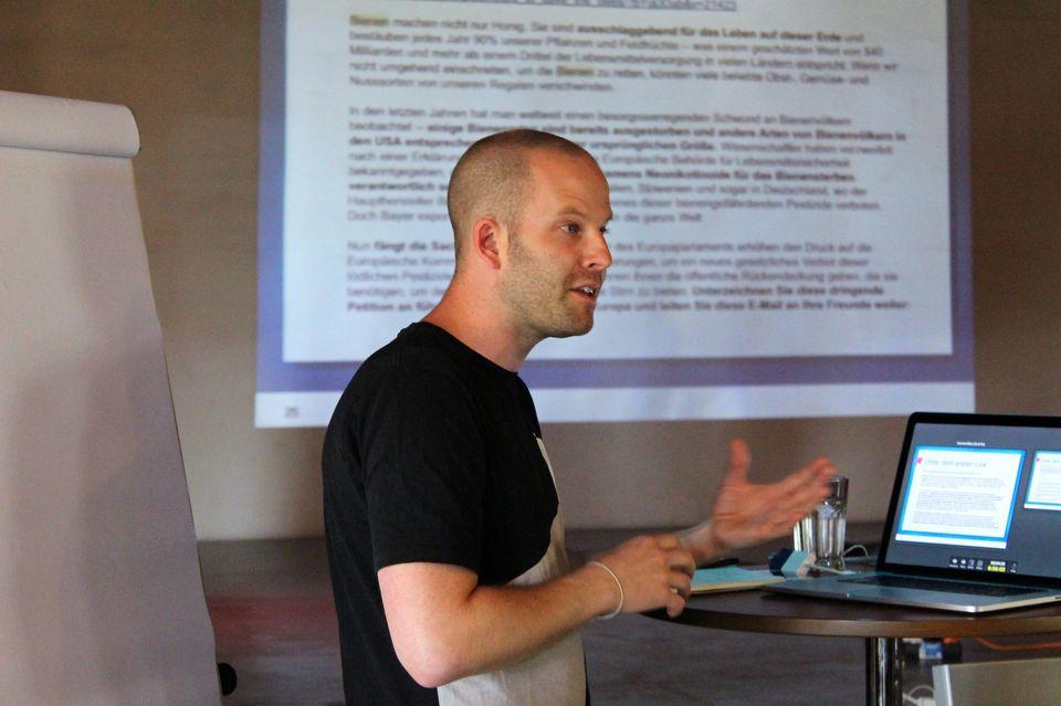 Pascal Vollenweider (Avaaz) war Trainer beim ersten Boostcamp 2014.