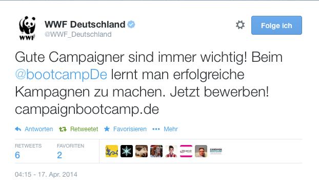 Tweet des WWF Deutschland.