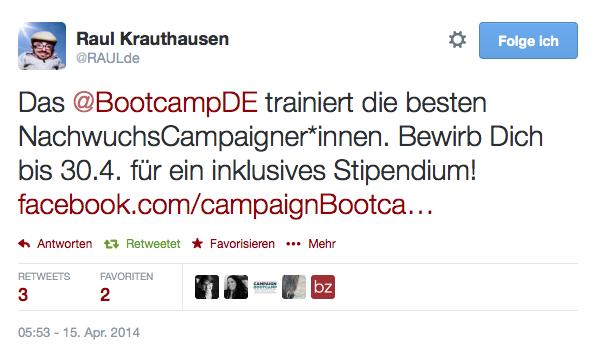 Tweet von Raul Krauthausen