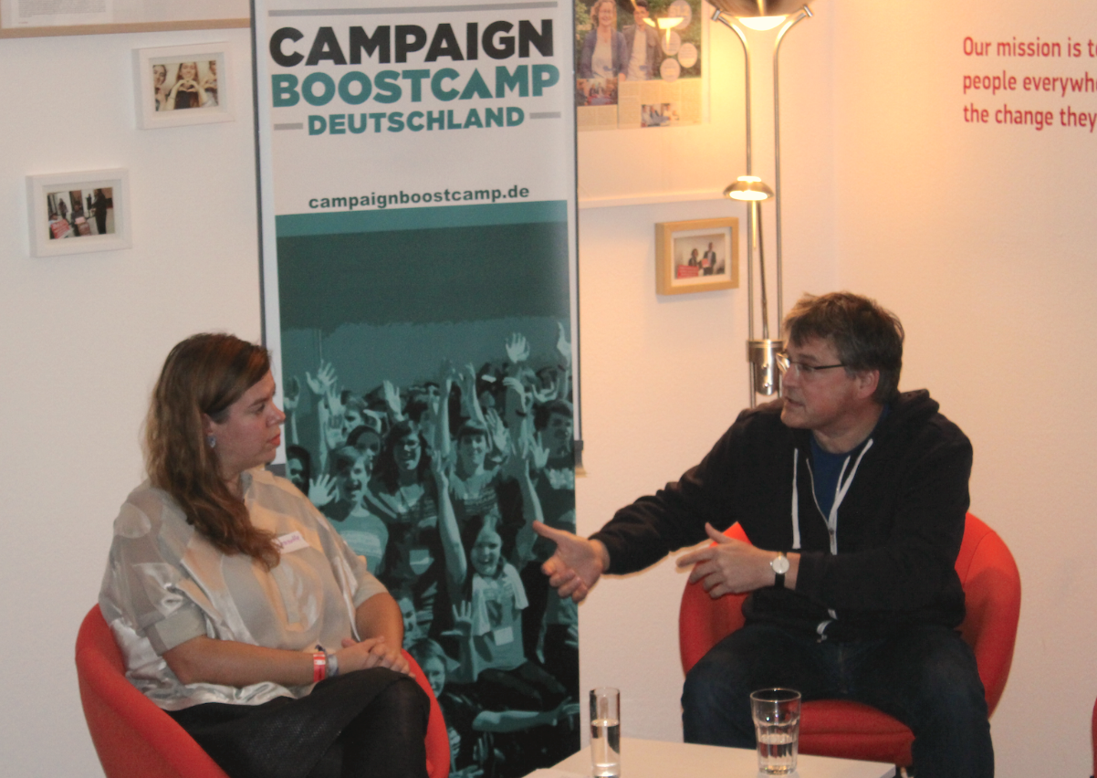 Kamingespräch: Jeannette Gusko im Gespräch mit Kajo Wasserhövel